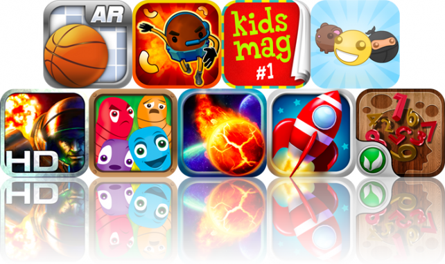 iOS Apps Gone Free: ARBasketball, Mission ImPASTAble, KidsMag, And More