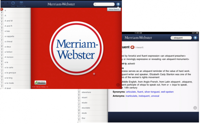 The Merriam-Webster Dictionary Arrives On The iPad For First Time