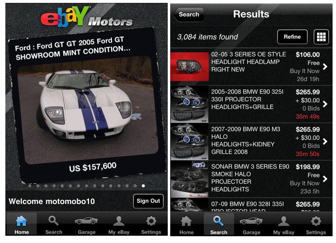 New Ebay Motors App Speeds Into App Store