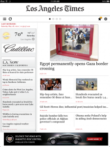 QuickAdvice: The Los Angeles Times App For iPad