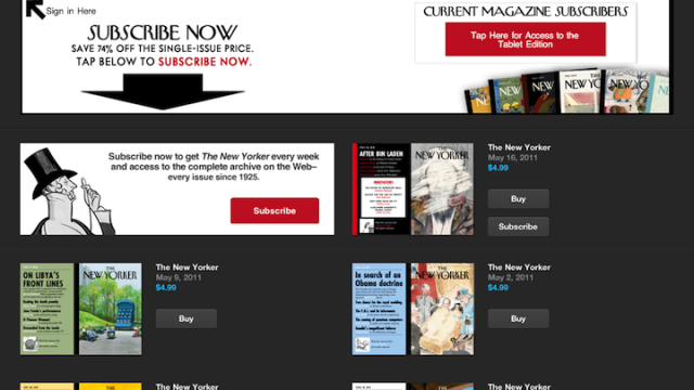 The New Yorker For iPad Now Available With Subscription