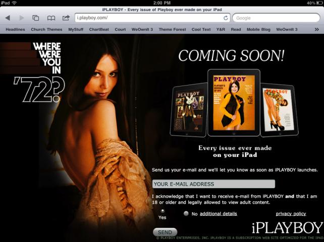 Playboy Arriving Tomorrow On iPad, Sort Of