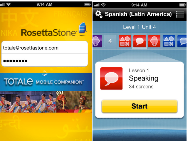 Rosetta Stone On iPad For First Time
