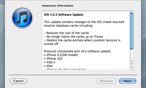 Apple Releases iOS 4.3.3 To The World - Stops Your iDevice From Constantly Tracking You