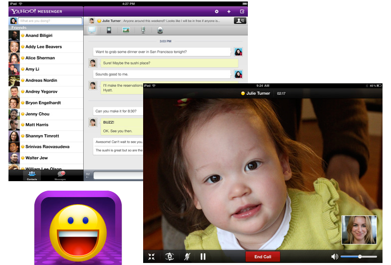 Yahoo! Messenger Adds Essential Tricks For iPad 2 Users