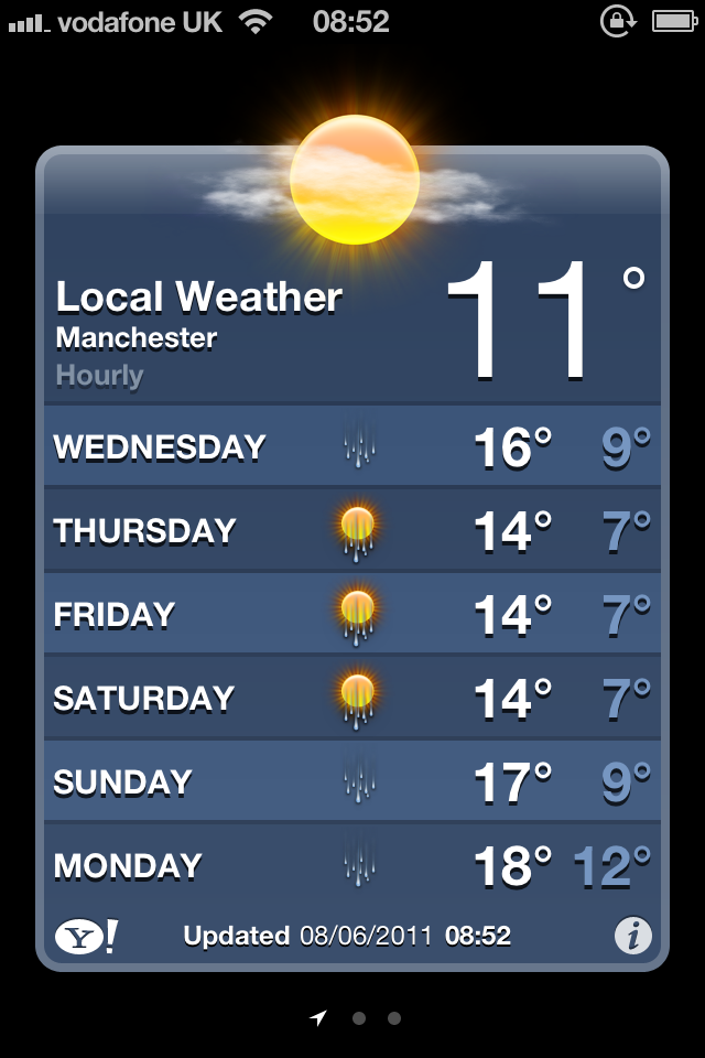 The Weather App Gets Smart In iOS 5