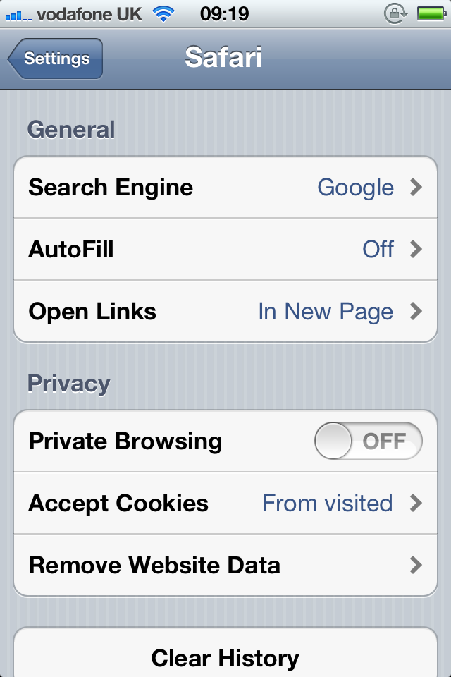 """Safari In iOS 5 Adds """"Private Browsing"""" - Easily Protect Your Privacy While Surfing The Web"""