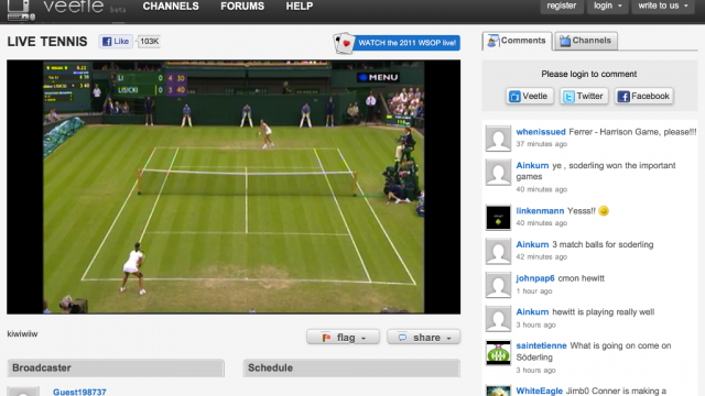 Watch Wimbledon Live On Your iPhone With Veetle