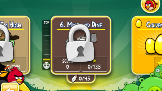 """Angry Birds Updated: """"Mine & Dine"""" - Cave Theme, 15 New Levels"""