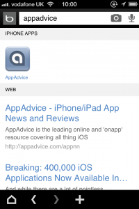 Bing Launches iPhone Mobile App Discovery - Apps Now Feature In Search Results