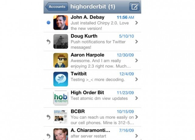 Chirpy: Take Control Of Twitter DMs, Now In The Retina Display!