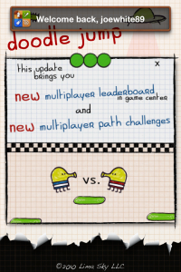 Doodle Jump Update Bounces Into The App Store, Adds Multiplayer Leaderboard