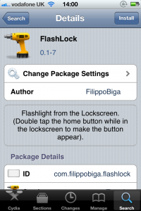 Jailbreak Only: FlashLock - Turn Flash On From The Lock Screen