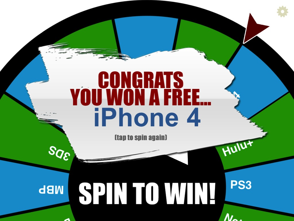 Replace That Prize Wheel With Your iPad Using iPrizewheel HD