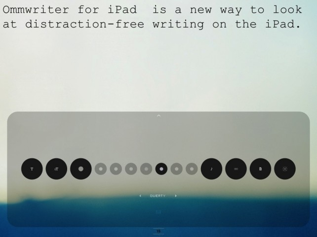 Get Inspired To Write With OmmWriter On iPad