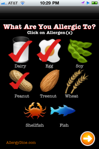 Allergy Dine by NPD Solutions LLC screenshot