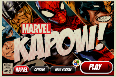 Fight Super Villains With Your Finger In Marvel KAPOW!
