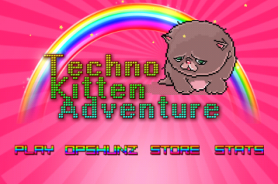 How Long Can You Survive Unicorns And Rainbows In Techno Kitten Adventure