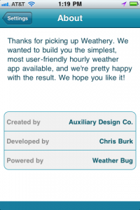 Weathery by Auxiliary Design Co. screenshot