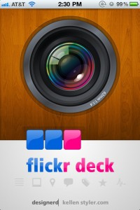 Browse Flickr With Cards In Flickr Deck