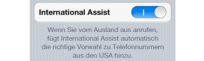 Also New In iOS 5: International Assist - Making Calls From Abroad Has Never Been So Easy
