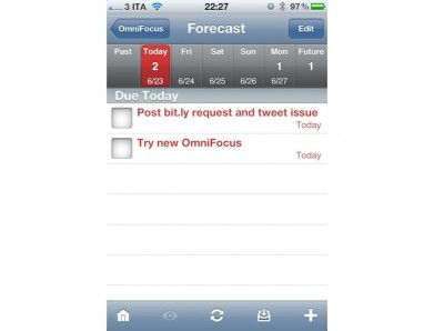 OmniFocus For iPhone Updated: Adds Forecast View & Many Fixes