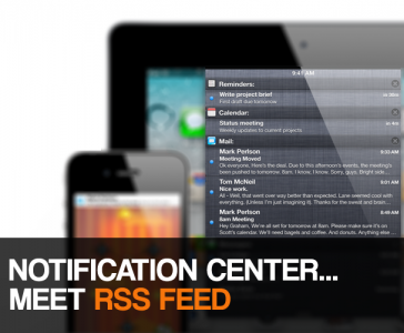 How To: View Your Favorite RSS Feeds In Notification Center Without Jailbreaking