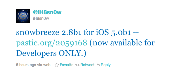 Another Jailbreak Solution For iOS 5 Hits The Web - Sn0wbreeze
