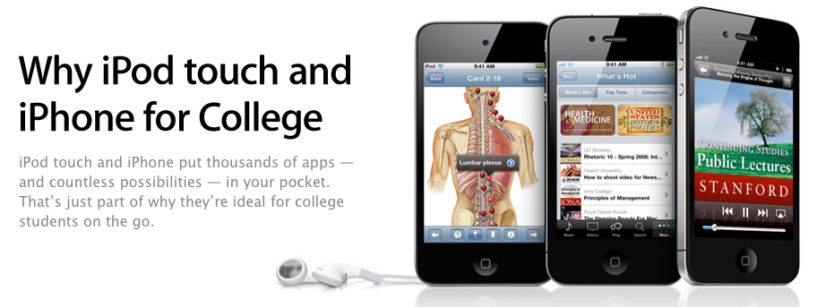 Apple Launches New Webpages: Why An iOS Device Is Great For College