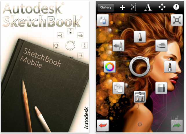 SketchBook Mobile Updated, Adds Many Great Features!