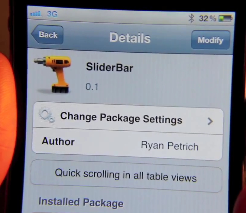 Jailbreak Only: SliderBar - Today's TweakWeek Adds Quick Scrolling To All Table Views