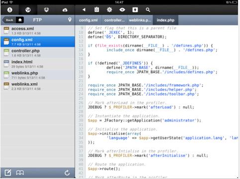 Koder Turns The iPad Into A Useful Code Editor