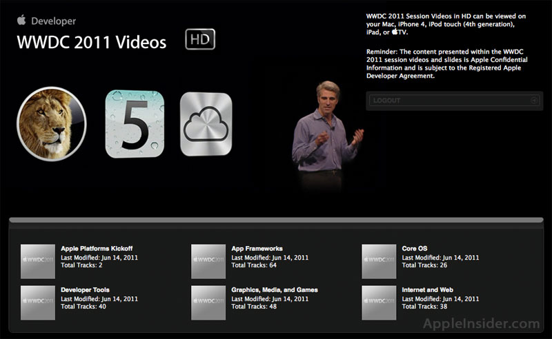 WWDC Session Videos Now Available Online For Developers