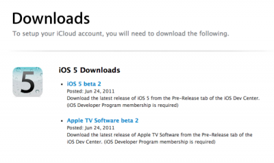 Apple Releases New Betas For iOS 5, Apple TV, & iTunes [Updated]