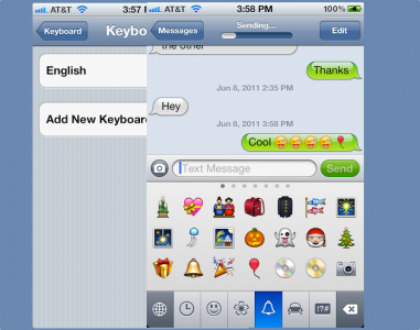 Emoji International Keyboard Joins iOS 5