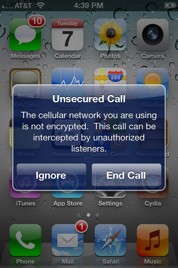 "Apple Warns Customers Of ""Unsecured Calls"" In iOS 5"