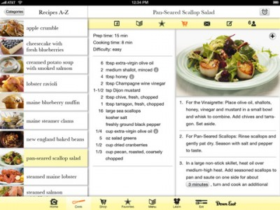 Great Maine Food Offers Comprehensive Culinary Info On The iPad
