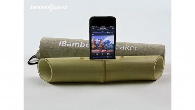 New Bamboo, Electricity-Free Speaker Hits Kickstarter