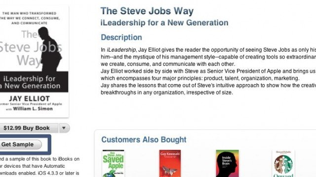 Now iBooks For iTunes Is Offering Samples Through Push Delivery
