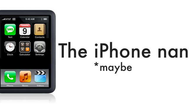 The iPhone nano: Remember Me?