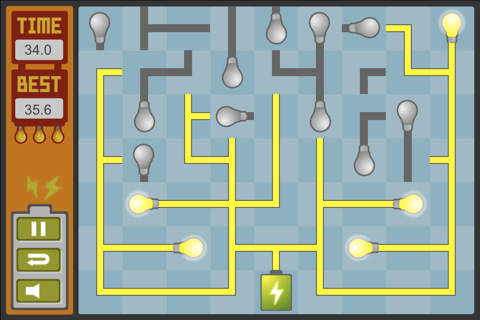 Connect Wires And Light Bulbs In Puzzle Game, Light It!