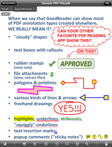 Ipad app for annotating pdf files