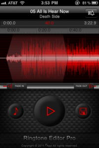 Make Ringtones Directly From Your iPhone Music Library With Ringtone Editor Pro