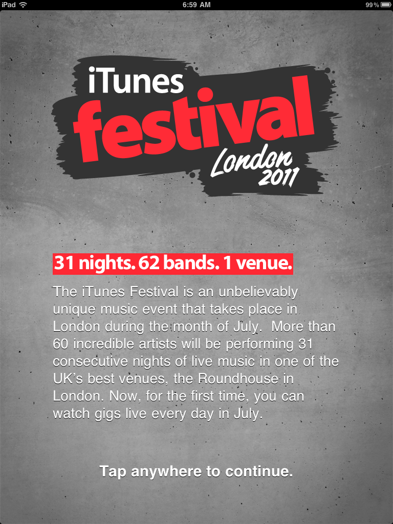 Watch This Year's iTunes Festival Without Having To Win A Ticket