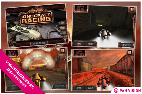 Steampunk Futuristic Racer Ionocraft Racing Hits iPhone
