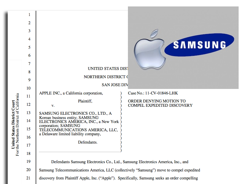 Judge: Samsung Can't See Apple's Future iDevice Designs, At Least Not Yet