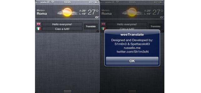 Jailbreak Only: WeeTranslate - Google Translate In Notification Center