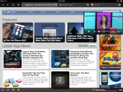 Surf, Chat, And Stream Video With Apollo: Browser+Facebook Chat For iPad