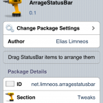 Jailbreak Only: ArrangeStatusBar - Take Control Of Your Status Bar