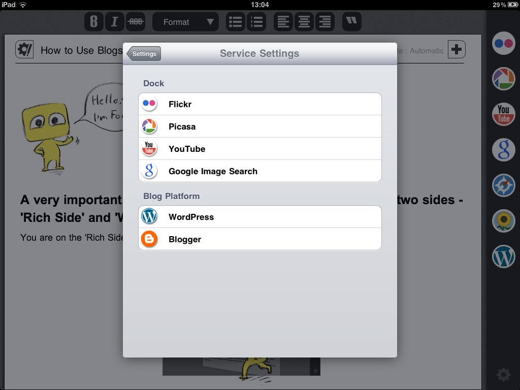 Blogsy For iPad Updated - Adds WordPress Page Support, New Features & Improvements